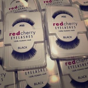 10 pairs of red cherry false lashes #66